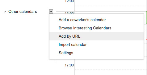 Google Agenda Add URL Team Calendar