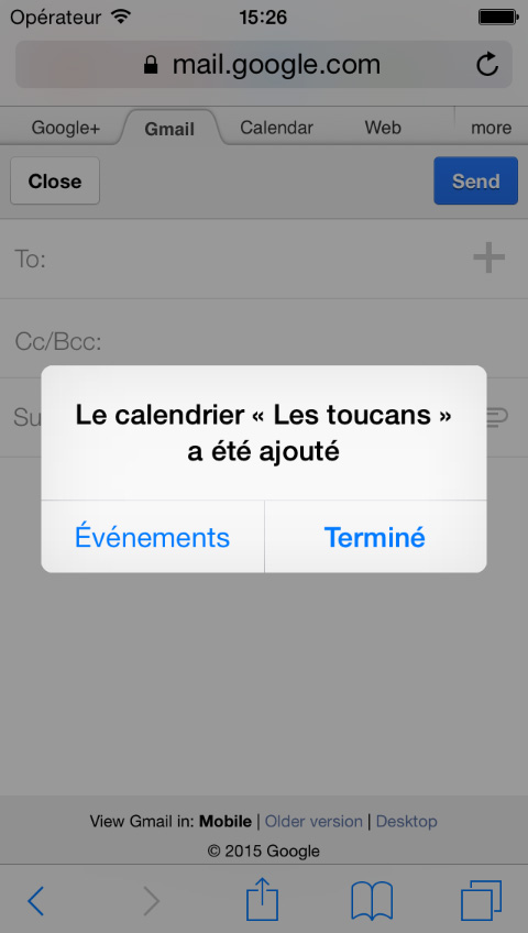 iphone ipod ipad confirmation calendrier equipe-sportive