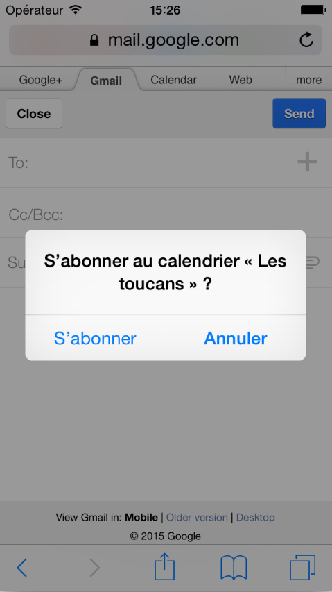 iPod iPhone iPad abonnement calendrier equipe sportive