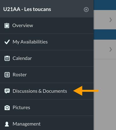 Version mobile - Rubrique Discussions