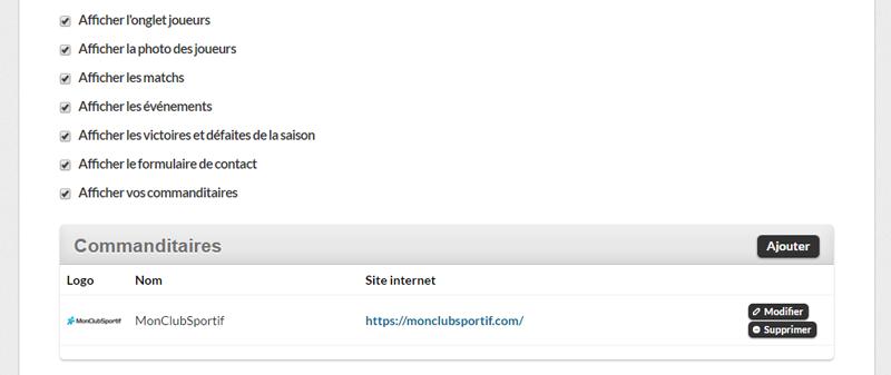 Version bureau - Sélection des contenus du site Internet