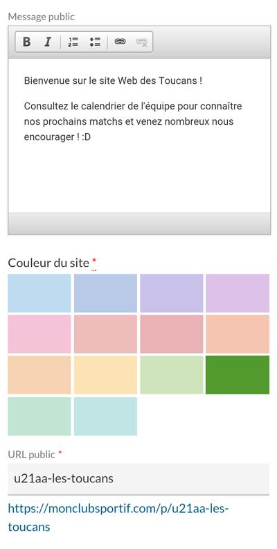 Version mobile - Personnaliser le visuel site internet