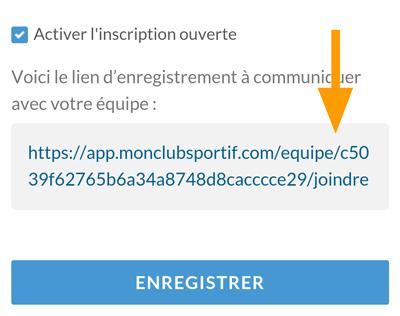 Version mobile - Activation de l'inscription ouverte