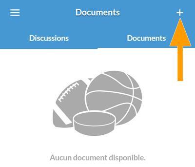 Version mobile - Ajout d'un document