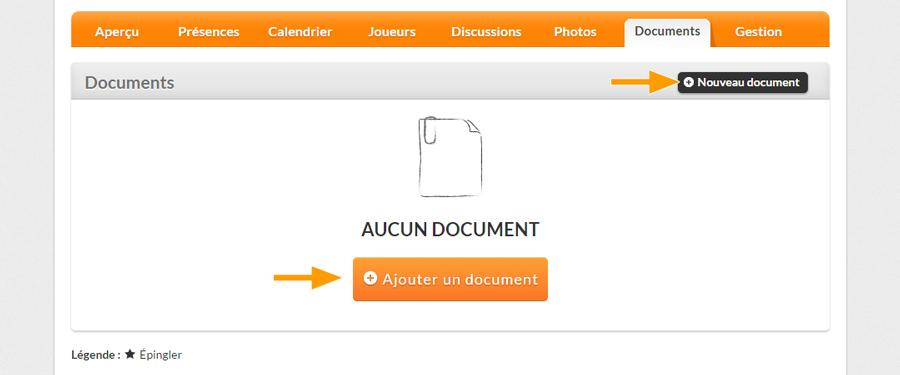Version bureau - Ajouter un nouveau document