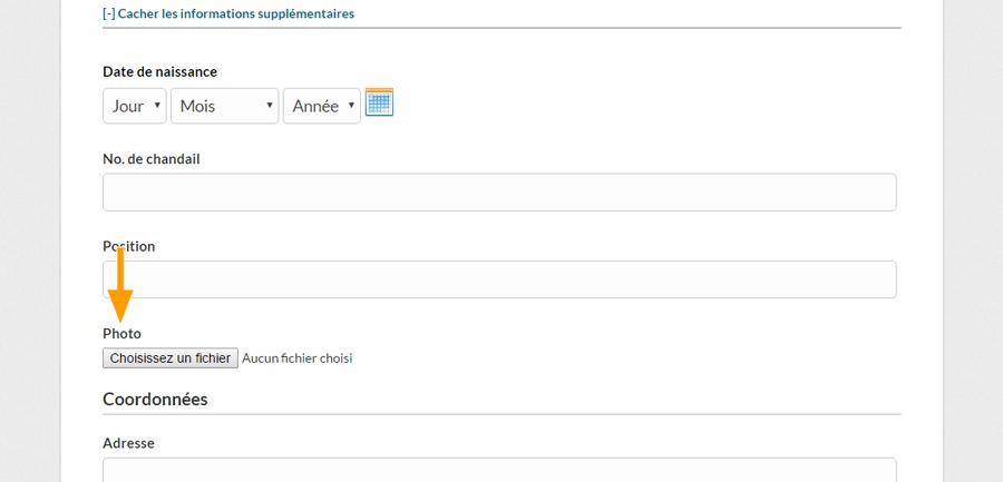 Version bureau - Sélectionner la photo de profil