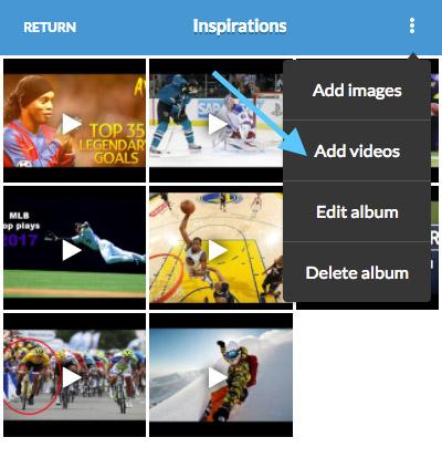 add video mobile app sport