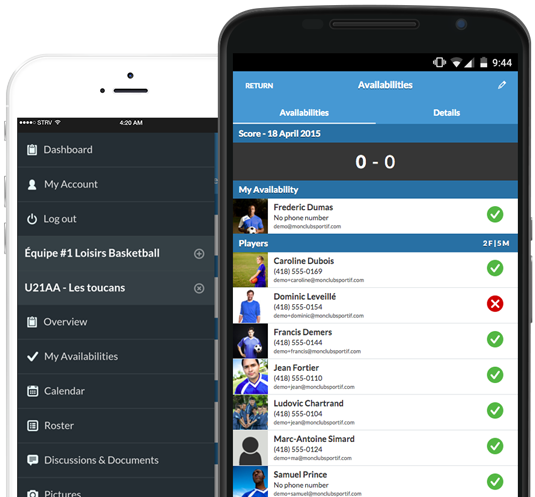 Sport Team Management Mobile app