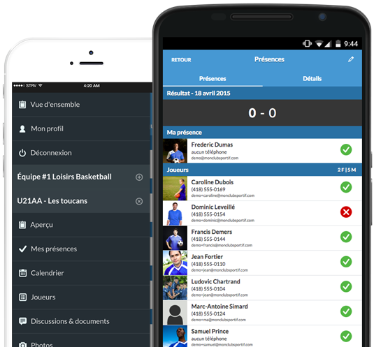 Application mobile gestion en tout temps