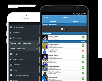 Application mobile pour simplifier la gestion d'équipe de soccer