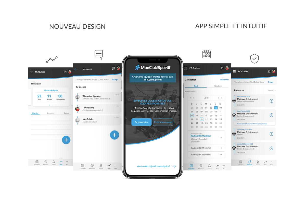 MonClubSportif : Un tout nouveau design, plus simple et intuitif