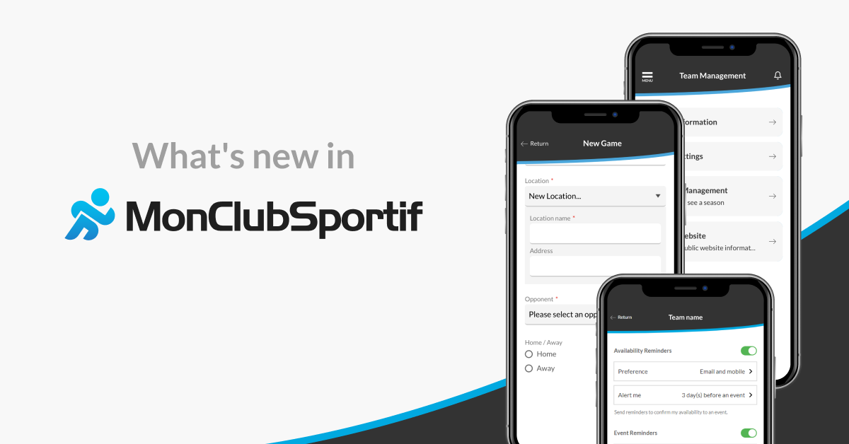 What's new in MonClubSportif?