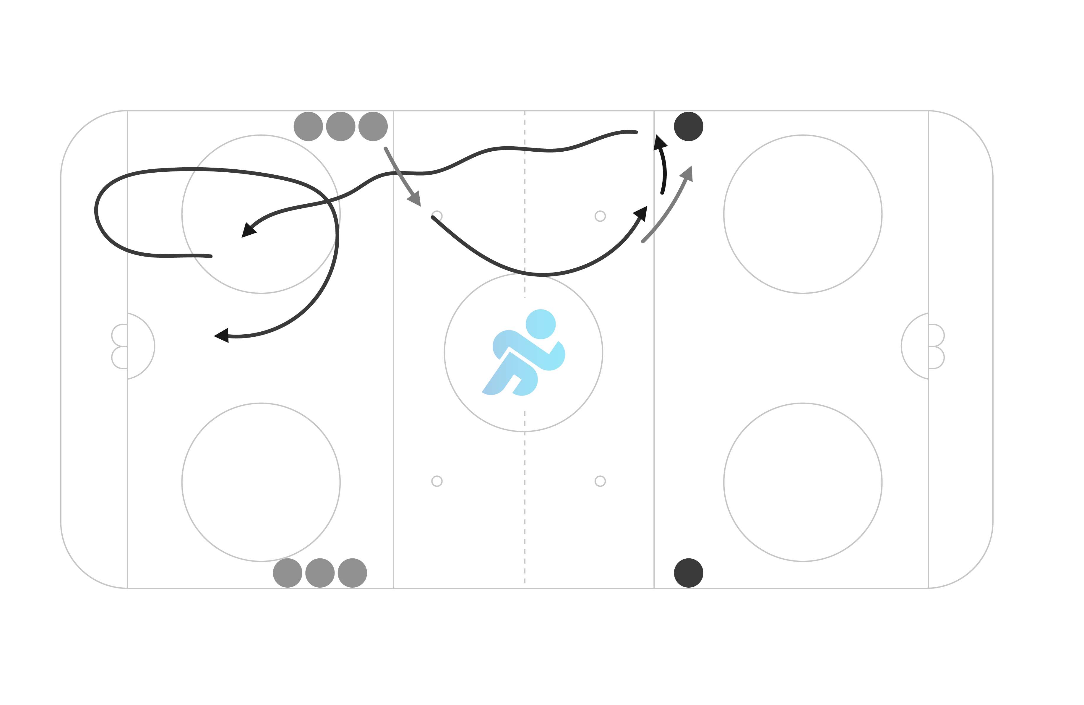 example of a collective hockey tactics