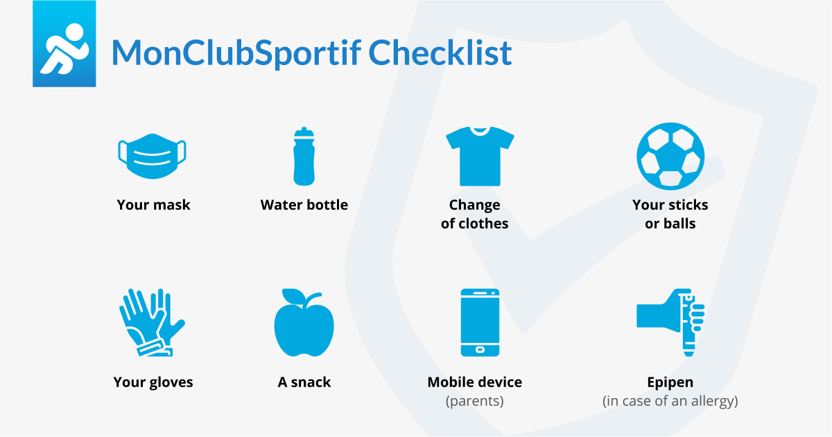 checklist to not forget things before a practice