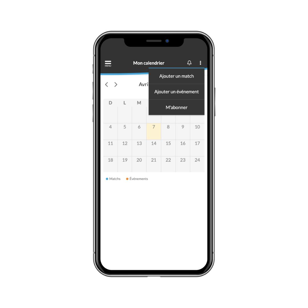ajouter un événement au calendrier de la saison à partir de l'application