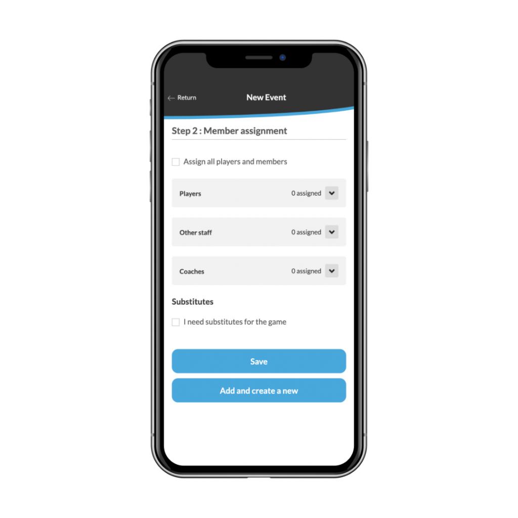 New tool on a sports team app